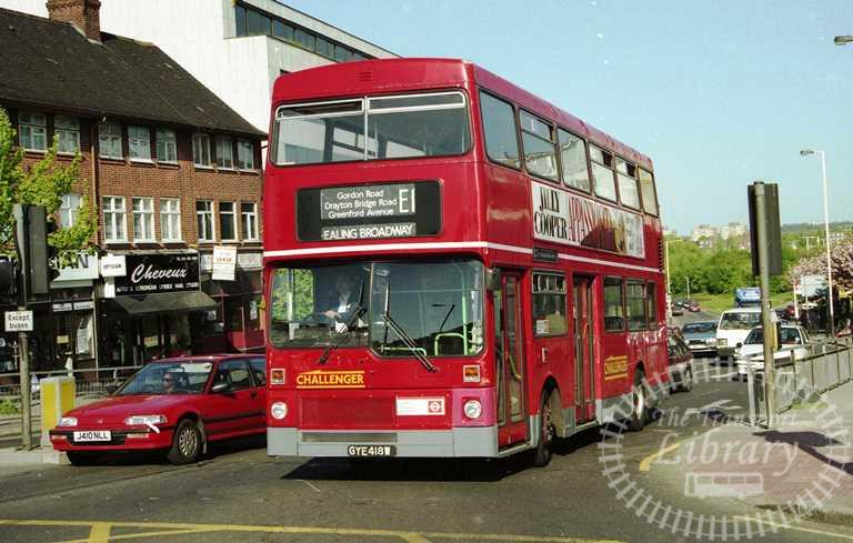 Centrewest MCW Metrobus Class M M418 GYE418W at Greenford in 1996 on route E1 - Russell Fell
