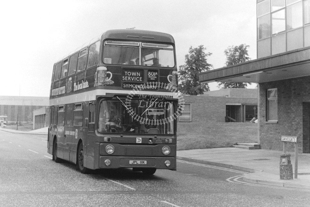 London Country Leyland Atlantean Class AN AN11 JPL111K at Stevenage ,Danesgate  in 1978 on route 801A - Russell Fell