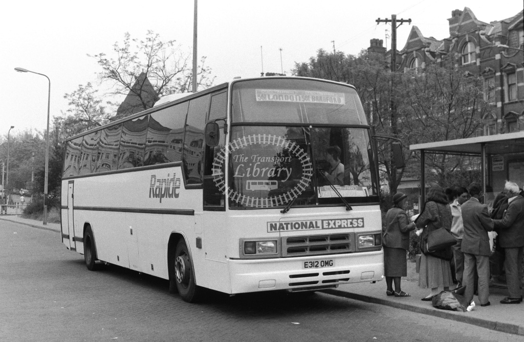 Rapide/National Express National Express Volvo B10M E312OMG at Golders Green ,Bus  Station  in 1989 on route 561 - Russell Fell