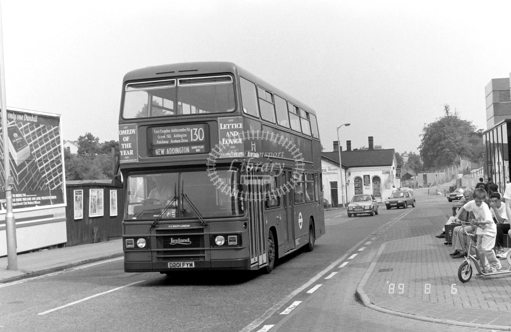 South London Leyland Olympian Class L L201 D201FYM at West Croydon ,Station Rd.  in 1989 on route 130 - Russell Fell
