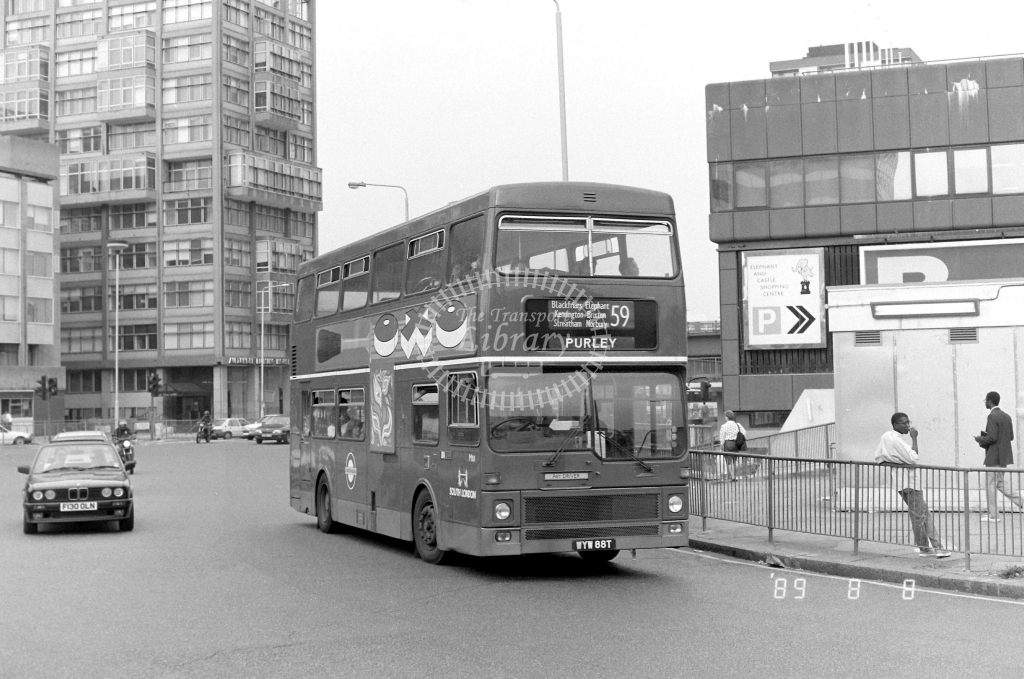 South London MCW Metrobus Class M M88 WYW88T at Elephant & Castle ,LT Station  in 1989 on route 59 - Russell Fell