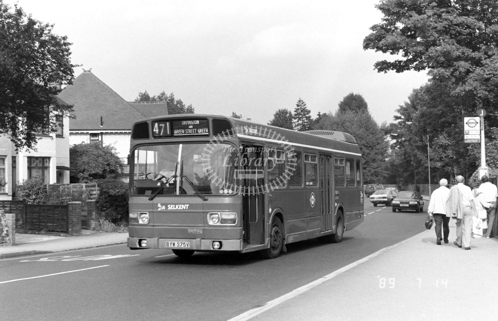Selkent Leyland National Class LS LS375 BYW375V at Orpington ,Station Rd  in 1989 on route 471 - Russell Fell