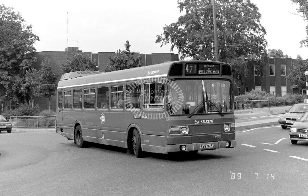 Selkent Leyland National Class LS LS375 BYW375V at Orpington ,High Street  in 1989 on route 471 - Russell Fell