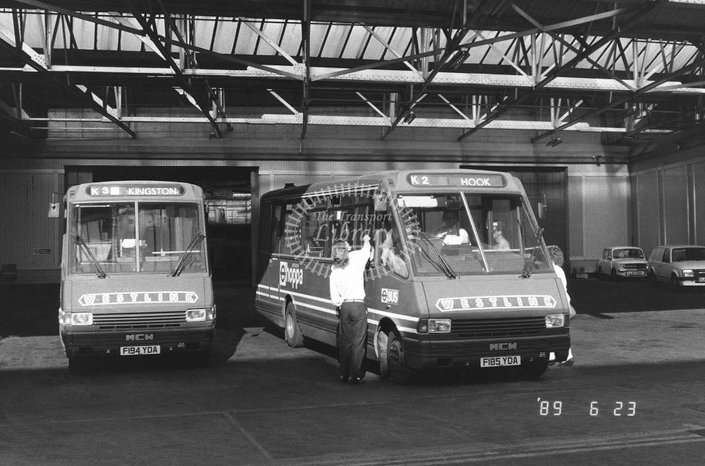Westlink Metrorider Class MRL MRL81 F185YDA at Kingston ,LT Garage  in 1989 on route K2 - Russell Fell