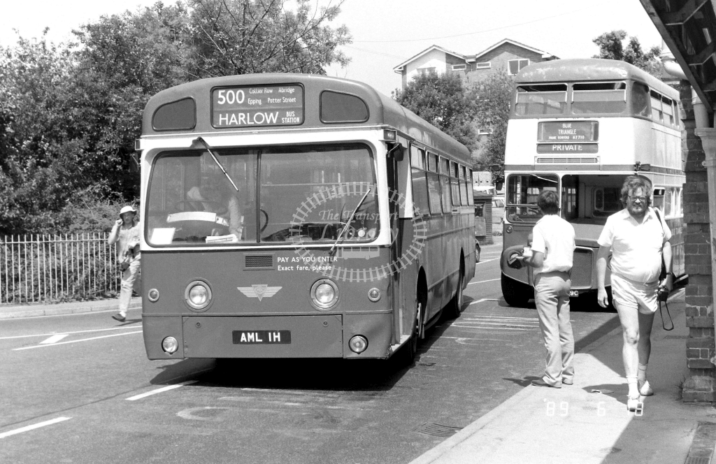 Private AEC Swift Class SM SM1 AML1H at Epping ,LT Station  in 1989 on route 500 - Russell Fell