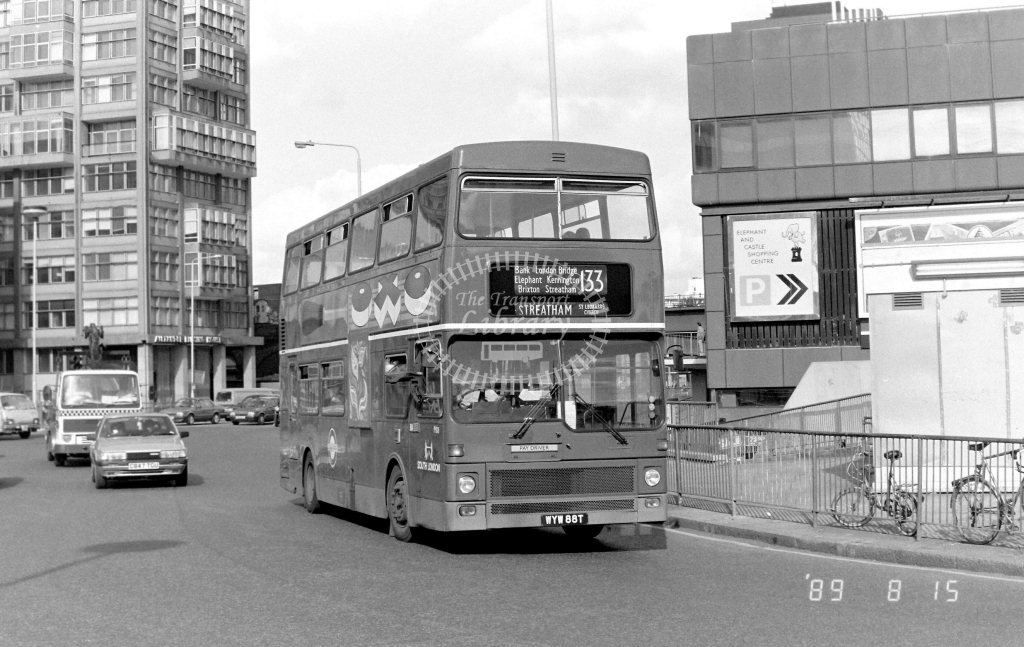 South London MCW Metrobus Class M M88 WYW88T at Elephant & Castle ,LT Station  in 1989 on route 133 - Russell Fell