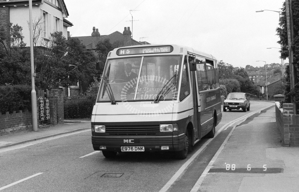 London Country North West MCW Metrorider MCW6 E976DNK  at Hemel Hempstead  in 1988 on route  H5  - Russell Fell