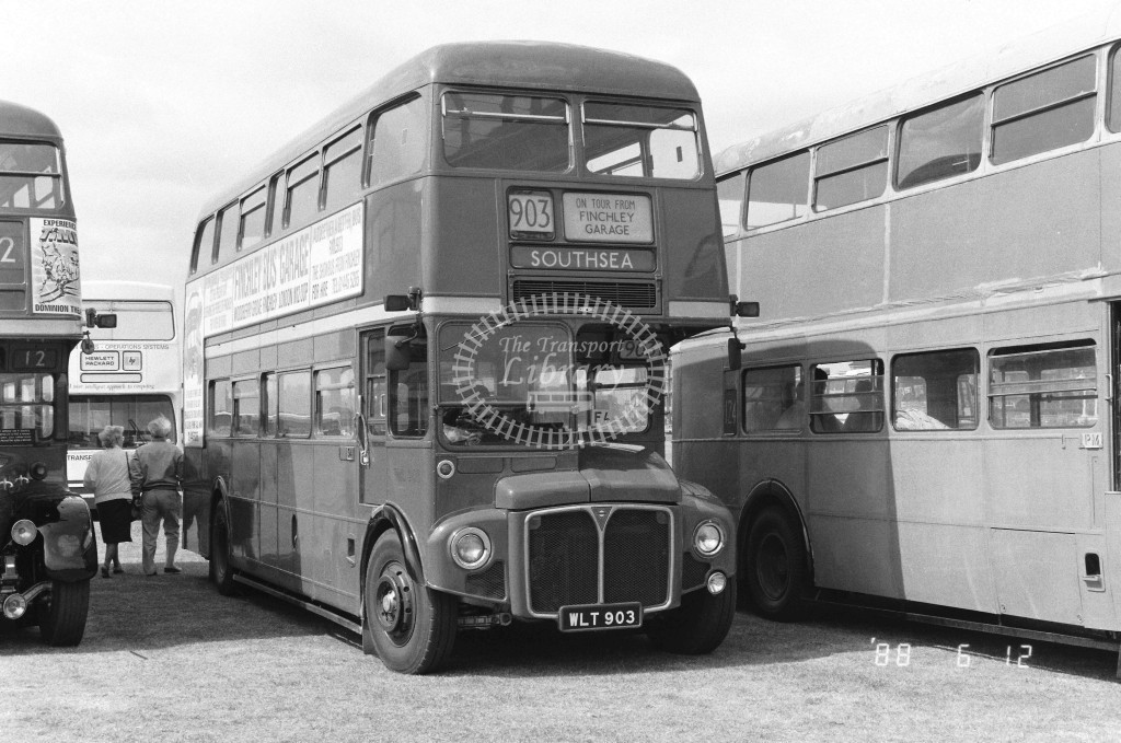 Unknown Operator AEC Routemaster RML903 WLT903  at North Weald , Airfield  in 1988 - Russell Fell