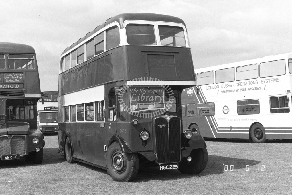 Unknown Operator AEC Regent 11 STL2692 HGC225  at North Weald , Airfield  in 1988 - Russell Fell
