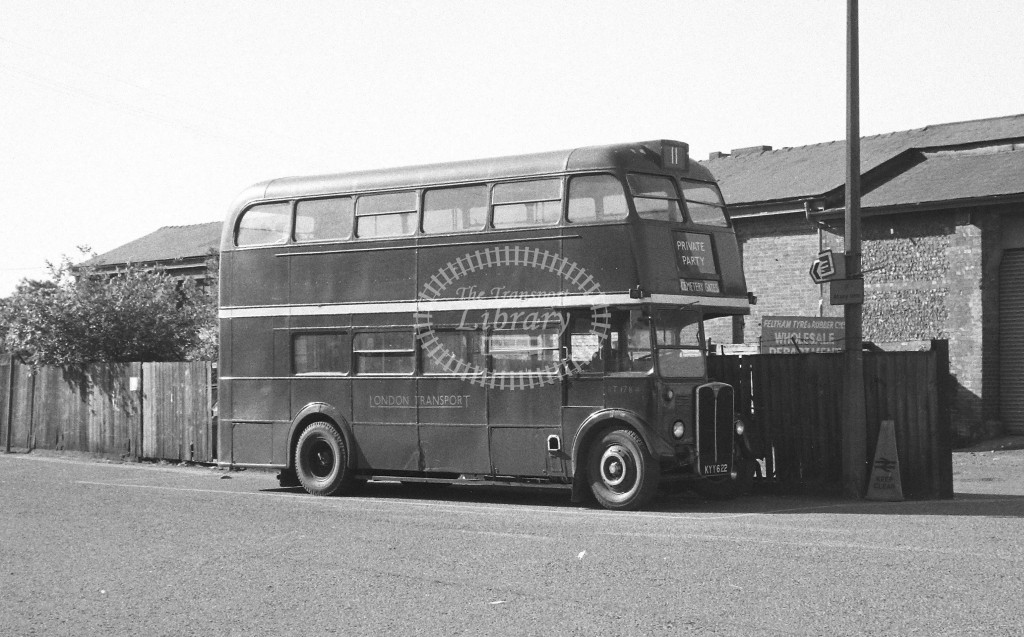 Unknown Operator AEC Regent 11 RT1784 KYY622  at Feltham  , Station  in 1988 on route  Private  - Russell Fell