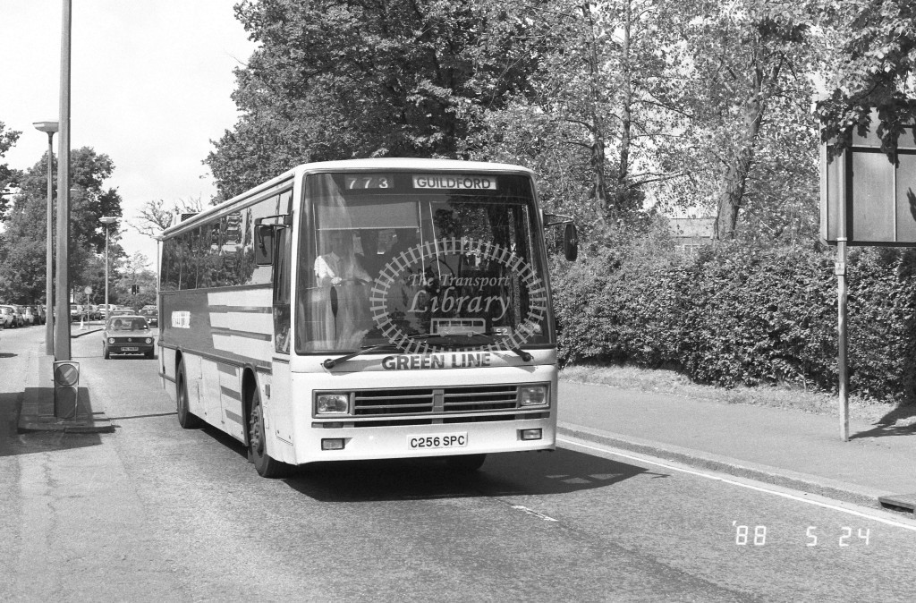 London Country South West Leyland Tiger TDL56 C256SPC  at Crawley , Bus Station  in 1987 on route  773  - Russell Fell