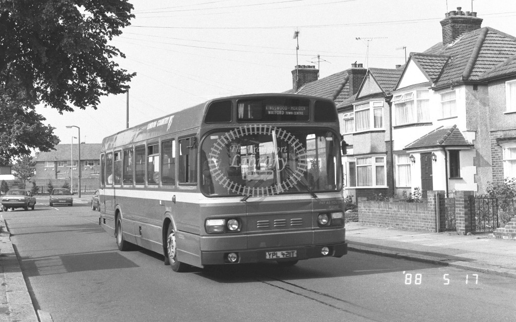 London Country North West Leyland National SNB421 YPL421T  at Watford   in 1988 on route  W1  - Russell Fell
