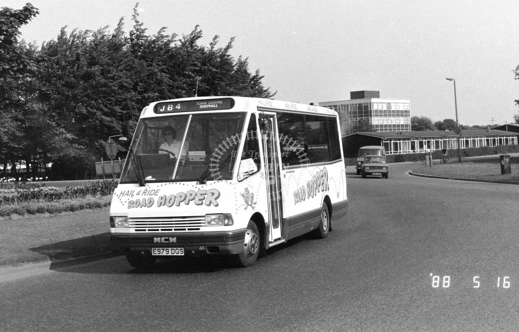 Jubilee MCW Metrorider 779 E979DGS  at Stevenage  in 1988 on route  JB4  - Russell Fell