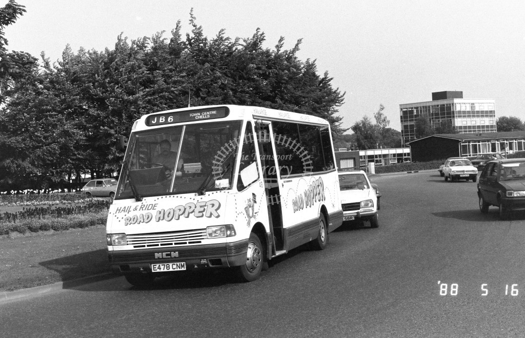 Jubilee MCW Metrorider E478CNM  at Stevenage  in 1988 on route  JB6  - Russell Fell