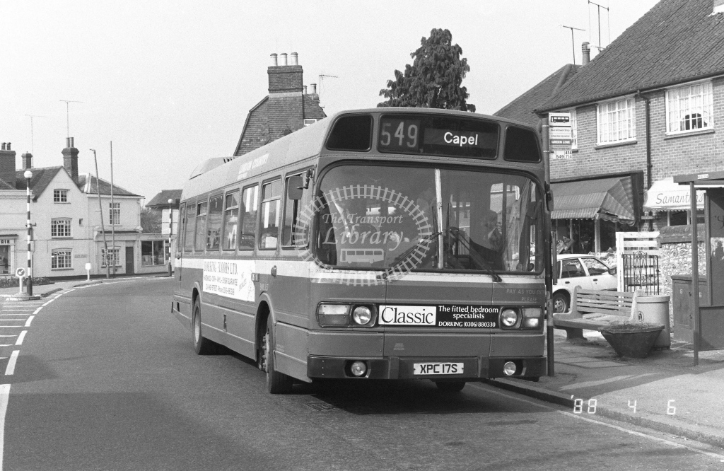 London Country South West Leyland National Class SNB SNB357  on route 549 XPC17S  in 1988 - Russell Fell