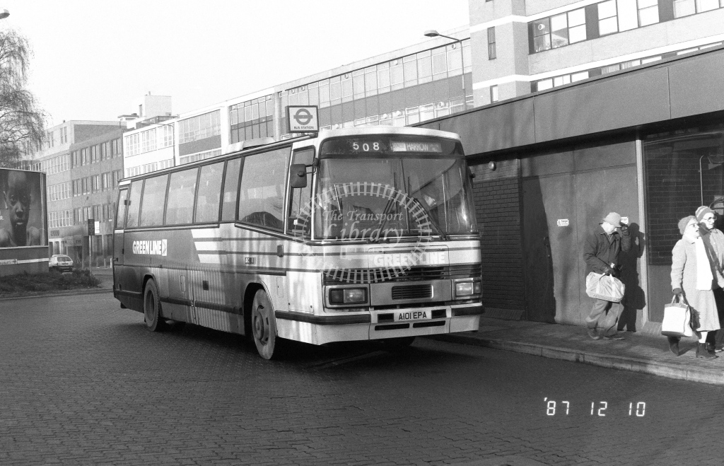 London Country North West Leyland Tiger Class TP TP1  on route 508 A101EPA  at Harrow  in 1987 - Russell Fell