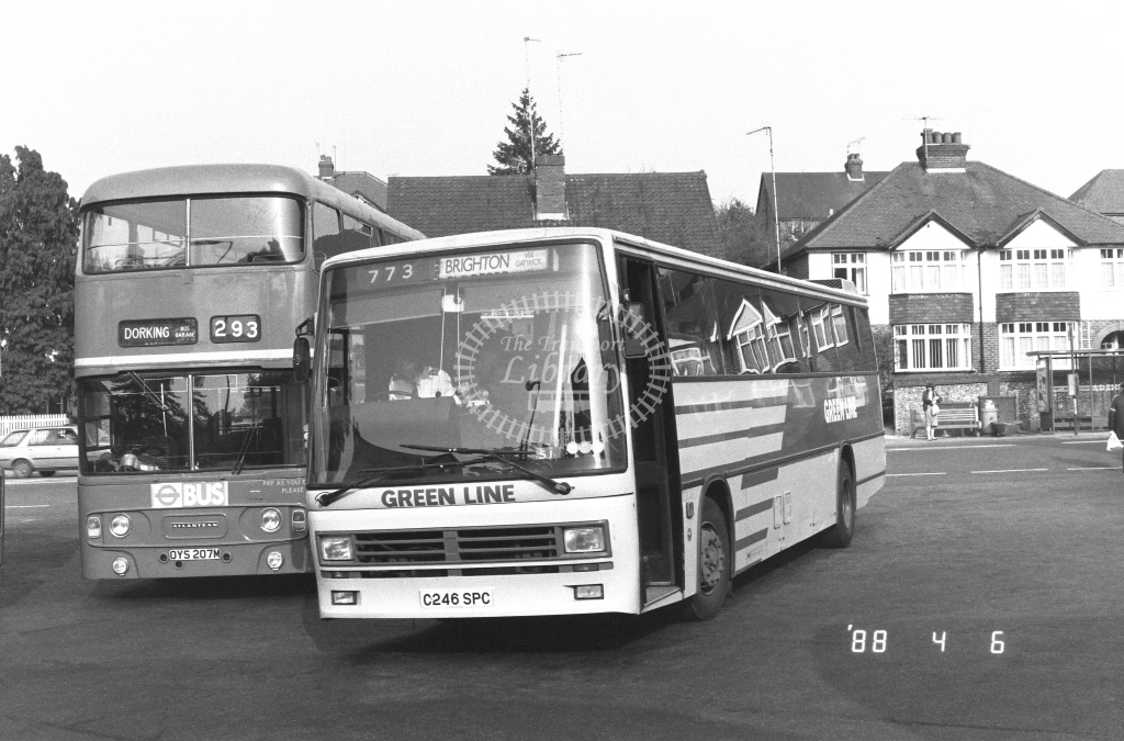 London Country South West Leyland Tiger Class TDL TDL46  on route 773 C246SPC  at Dorking  in 1988 - Russell Fell