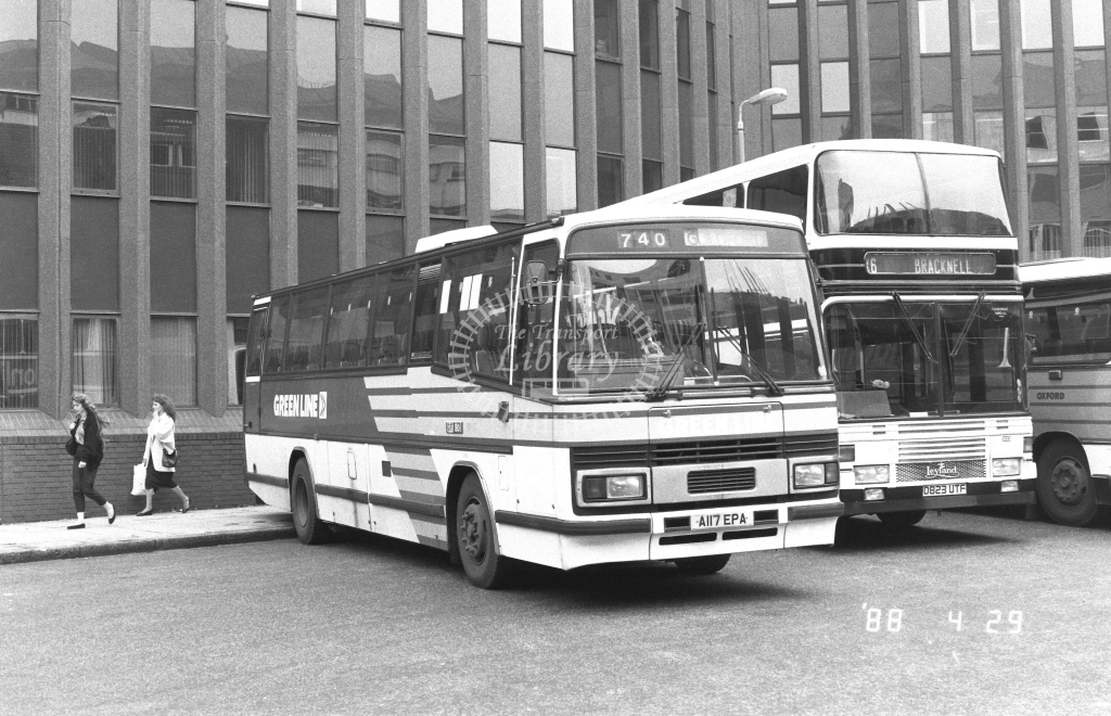 London Country South West Leyland Tiger Class TP TP17  on route 740 A117EPA  at Aldgate  in 1988 - Russell Fell