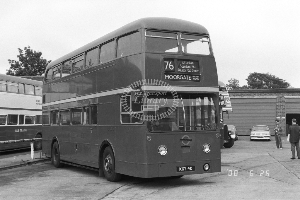 Private AEC Routemaster Class FRM FRM1  on route 76 KGY4D  in 1988 - Russell Fell