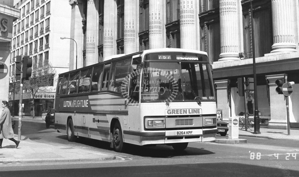London Country North East Leyland Tiger Class TP TP64  on route 757 B264KPF  at Oxford Street  in 1988 - Russell Fell