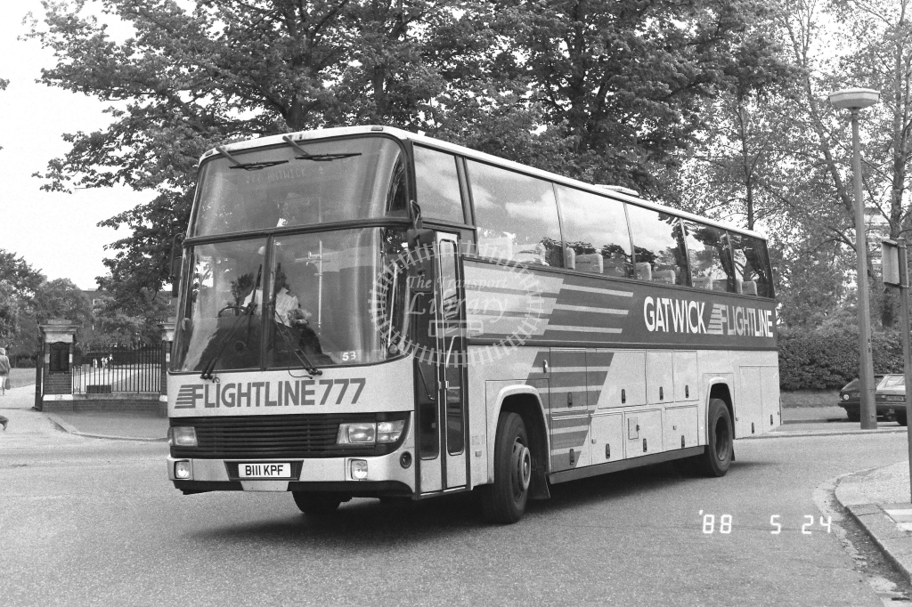 London Country South West Leyland Tiger Class BTL BTL11  on route 777 B111KPF  at Crawley  in 1988 - Russell Fell