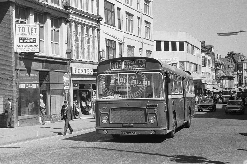 United Bristol RE 5002 EHN602J at Scarborough in Circa 1974 on route 104 - Russell Fell