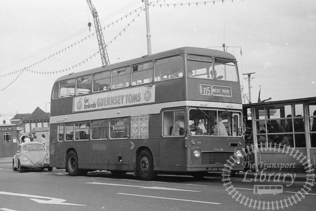 United Bristol VR 606 WHN416G at Scarborough in Circa 1974 on route 105 - Russell Fell