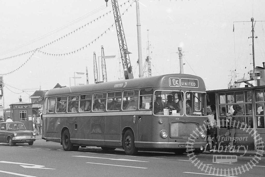 United Bristol RELL 4108 AHN108B at Scarborough in Circa 1974 on route 105 - Russell Fell
