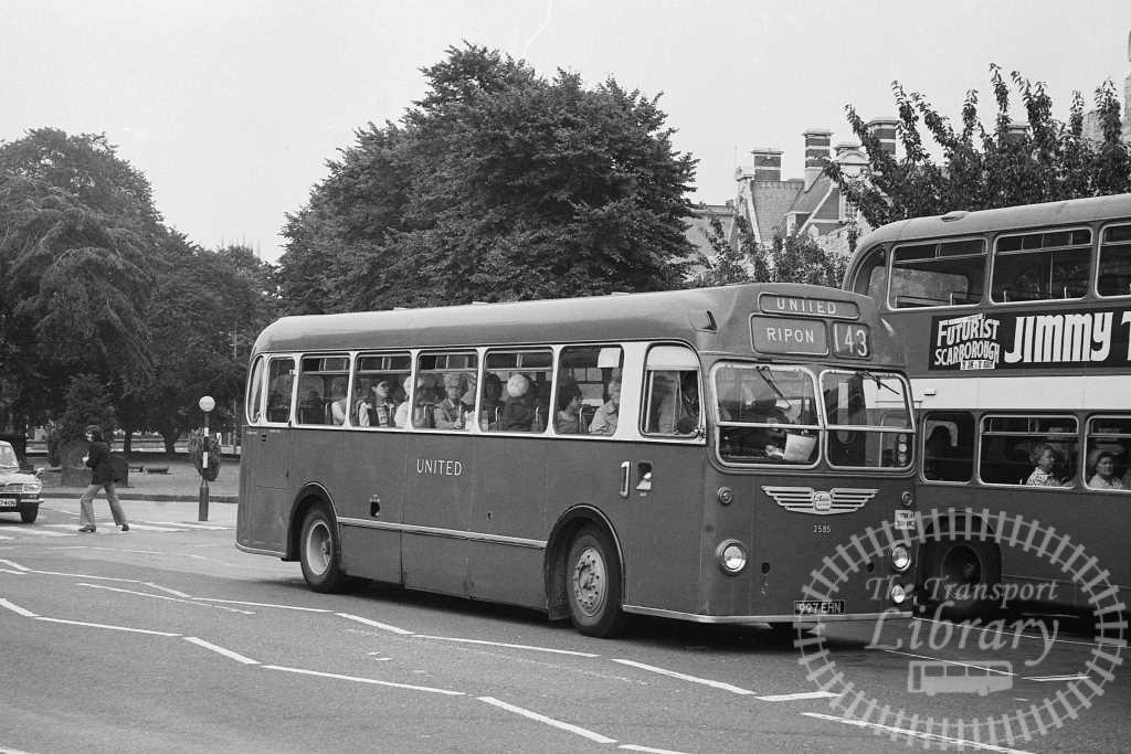 United Bristol MW 2585 997EHN at York in Circa 1974 on route 143 - Russell Fell