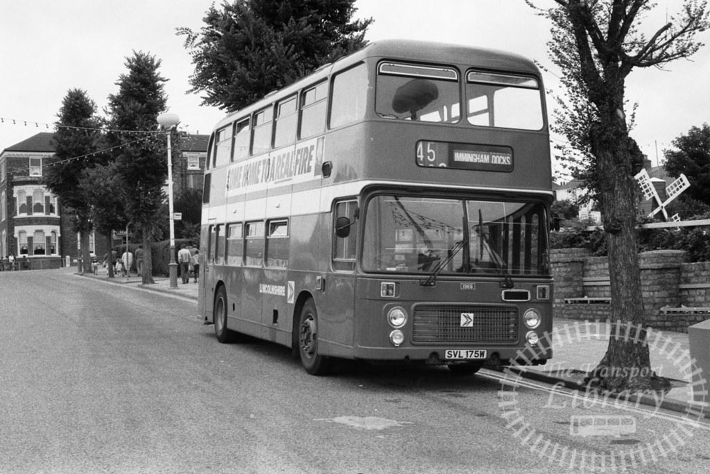 Lincolnshire Bristol VR 1965 SVL175W at Cleethorpes in Circa 1974 on route 45 - Russell Fell