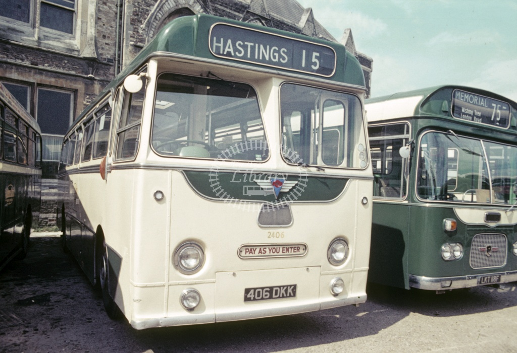 Maidstone and District AEC Reliance 2406 406DKK at Hastings  in 1969 - Jun 1969 - Robin Hannay