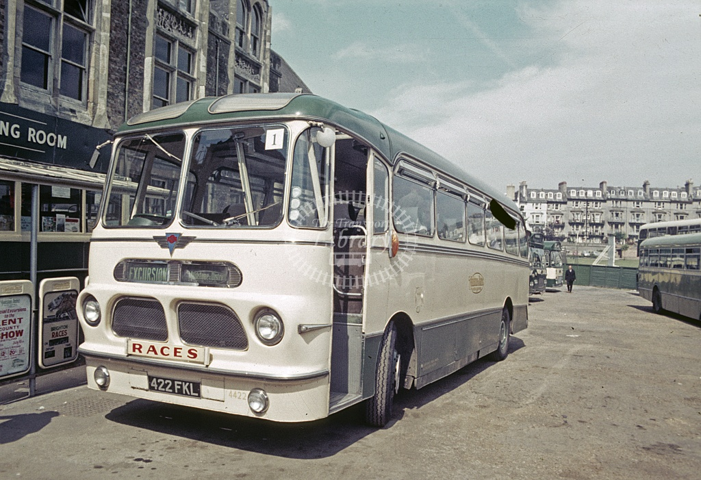Maidstone and District AEC Reliance 4422 422FKL at Hastings  in 1969 - Jun 1969 - Robin Hannay