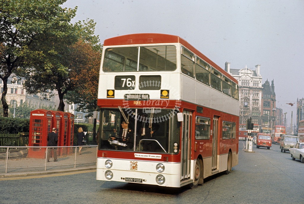 Manchester Leyland PDR1/1 1015 HVM915F at City centre in Undated - Robin Hannay