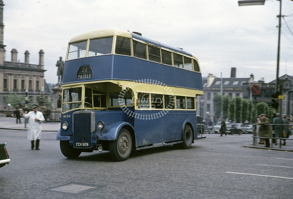 Paton. Renfrew Leyland PD2/3 82 CCK826 at Paisley  in 1966 - Aug 1966 - Robin Hannay