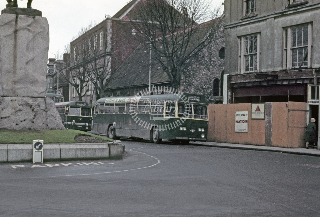 King Alfred, Winchester Leyland PSU3/2R 414FOR at Winchester in 1970 - Feb 1970 - Robin Hannay