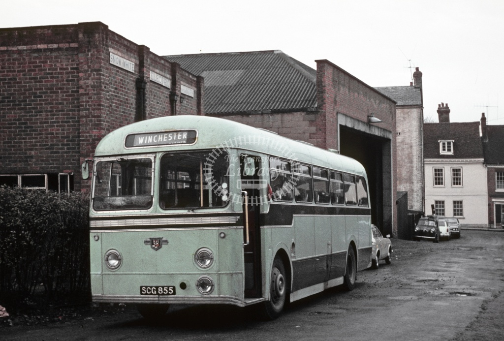 King Alfred, Winchester Leyland PSUC1/2 SCG855 at Winchester in 1970 - Feb 1970 - Robin Hannay