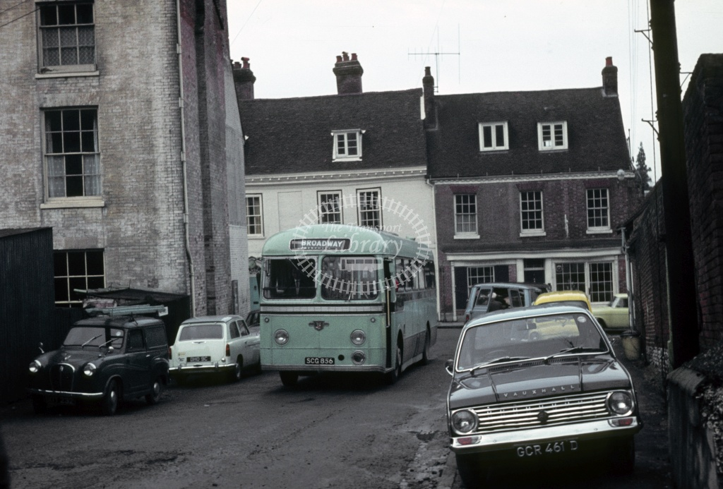King Alfred, Winchester Leyland PSUC1/2 SCG856 at Winchester in 1970 - Feb 1970 - Robin Hannay