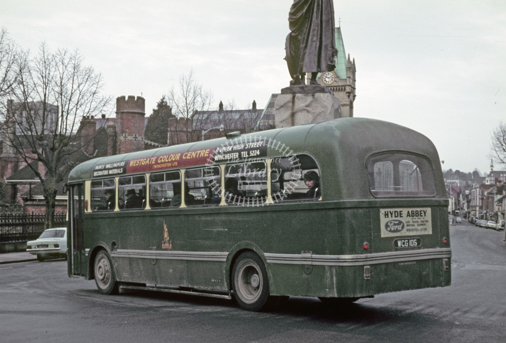 King Alfred, Winchester Leyland PSUC1/1 WCG105 at Winchester in 1970 - Feb 1970 - Robin Hannay