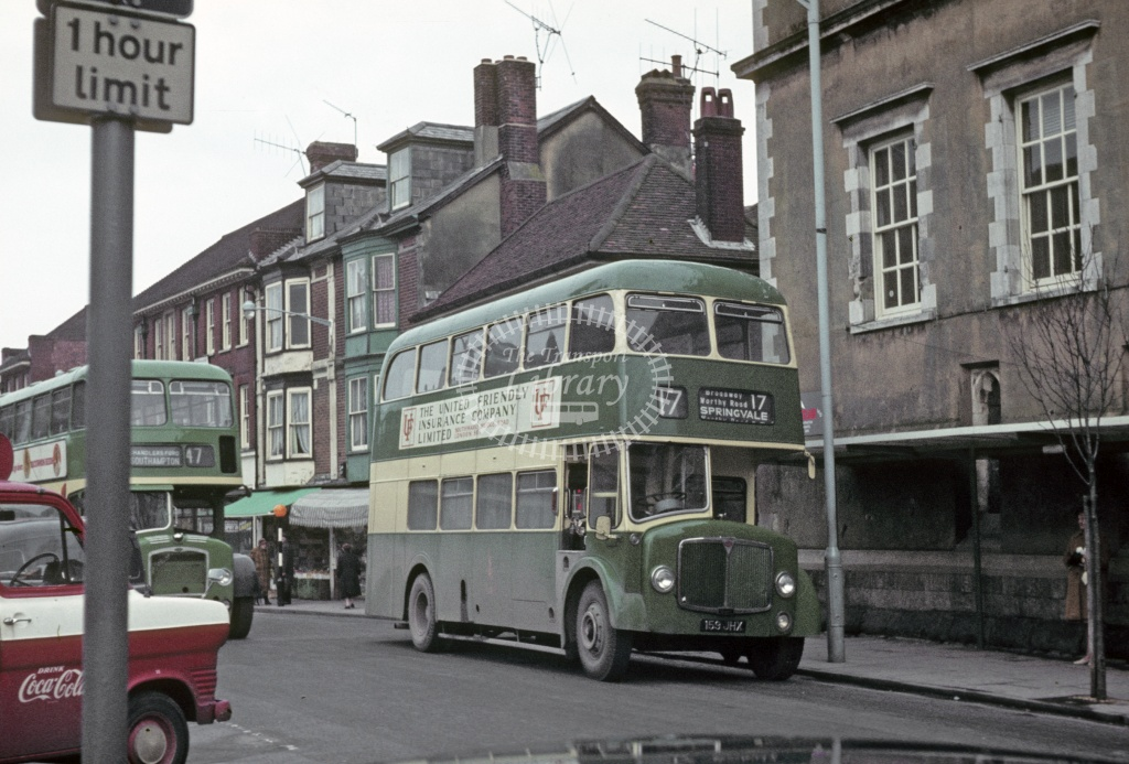 King Alfred, Winchester AEC Regent V 159JHX at Winchester in 1970 - Feb 1970 - Robin Hannay