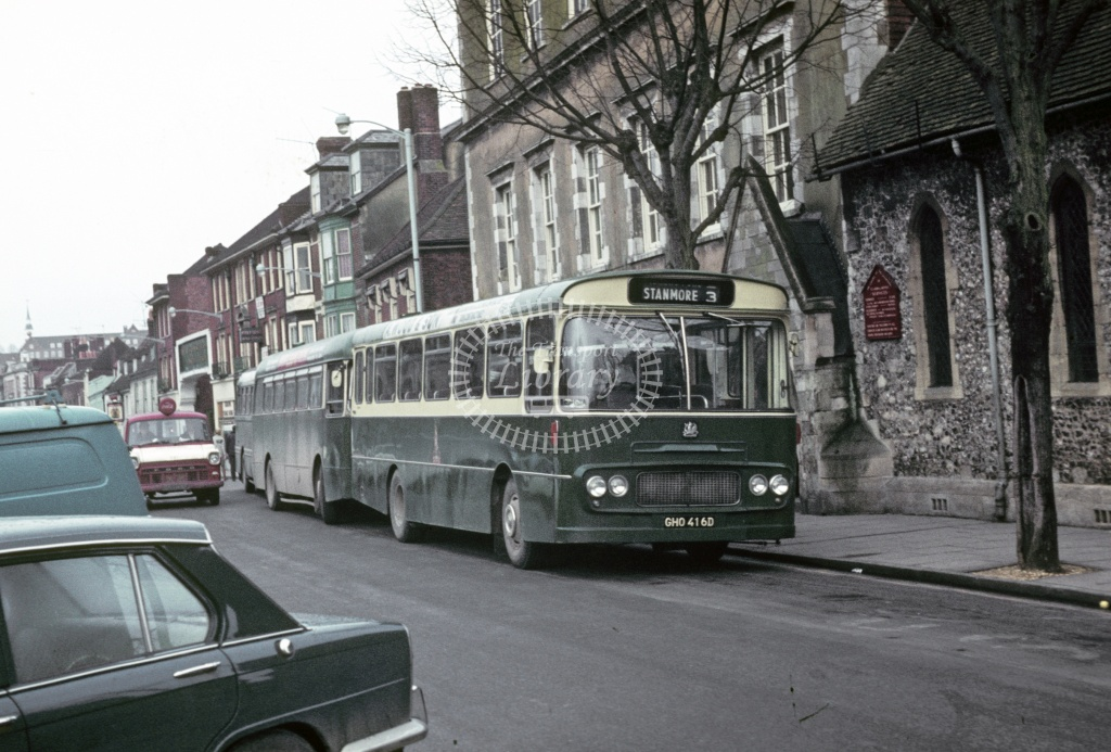 King Alfred, Winchester Bedford VAM5 GHO416D at Winchester in 1970 - Feb 1970 - Robin Hannay