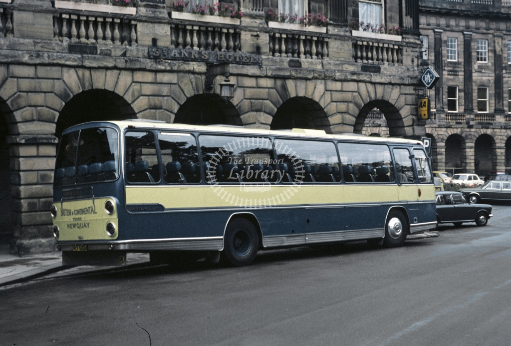 Hawkey, Newquay AEC Reliance VCV600H at Buxton in 1975 - Sep-75 - Robin Hannay