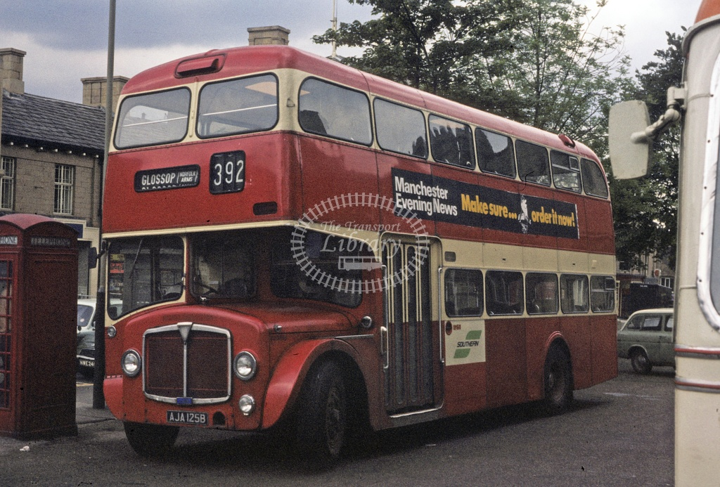SELNEC AEC Renown 125 AJA125B at Glossop in Undated - Robin Hannay