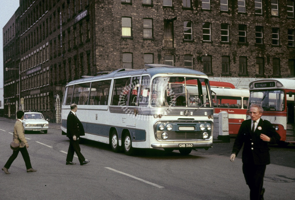 SELNEC Bedford VAL14 201 GNB516B at Lr Mosley St Bus Sta in Undated - Robin Hannay