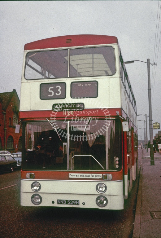 Manchester Leyland PDR2/1 1120 NNB529H in Undated - Robin Hannay