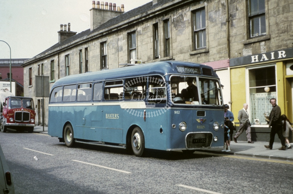 Baxter, Airdrie AEC Reliance 902 YWS902 in Undated - Robin Hannay