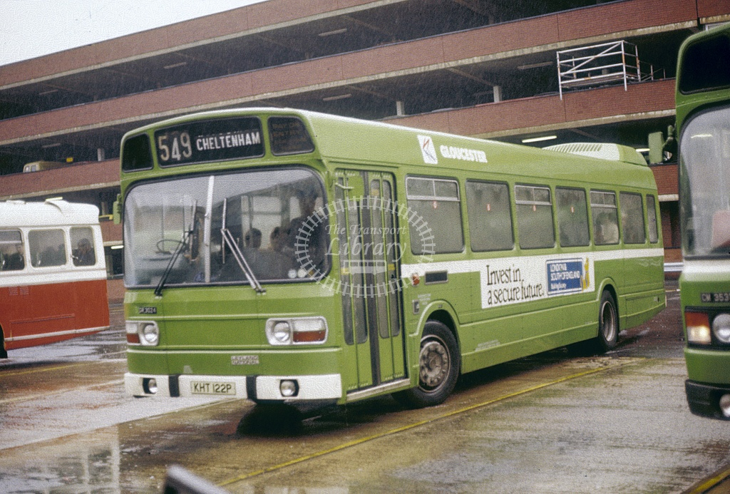 Gloucester Leyland National 3024 KHT122P at Bus Stn in Undated - Jul 1995 - Robin Hannay