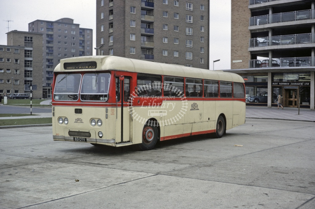 Birch Bros Leyland PSU3/3R 83CYV at Bedford  in 1966 - Mar-66 - Robin Hannay