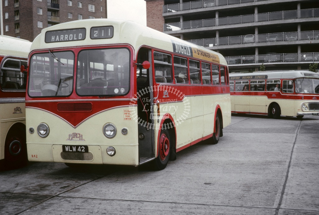 Birch Bros AEC Reliance WLW42 at Bedford  in 1966 - Apr-66 - Robin Hannay