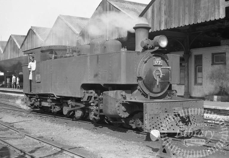 CGR Ceylon Government Railways Steam Locomotive Class J2A 177  at Maradana in 1976 - Tommy Farr