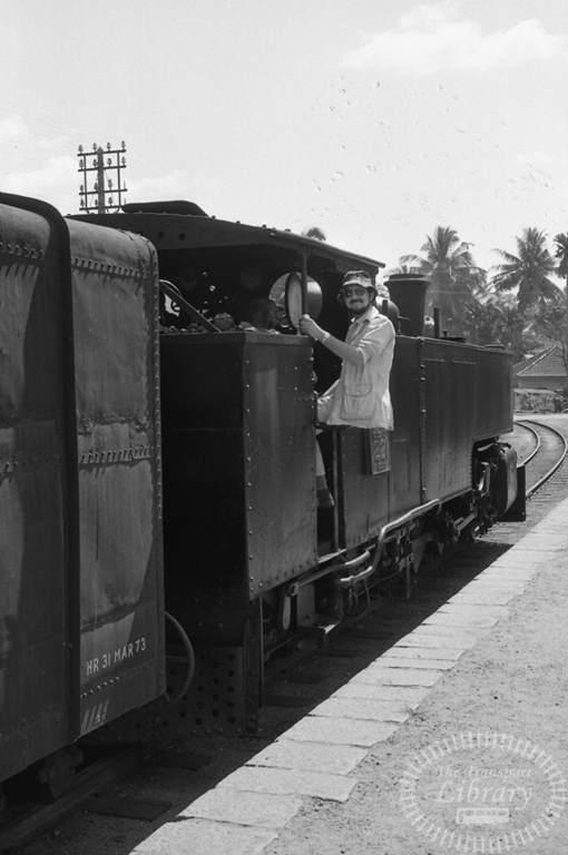 CGR Ceylon Government Railways Steam Locomotive Class J1 221  at Kottawa in 1976 - Tommy Farr